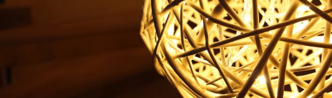 An intricate lamp shade