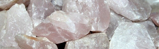Pale pink rose quartz