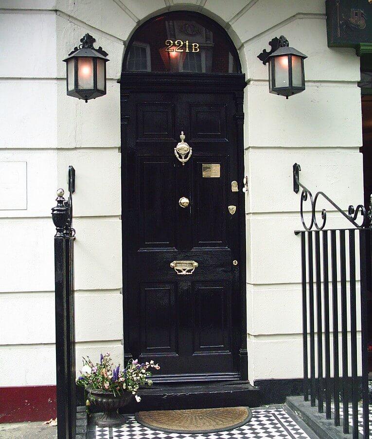 Sherlock Holmes front door
