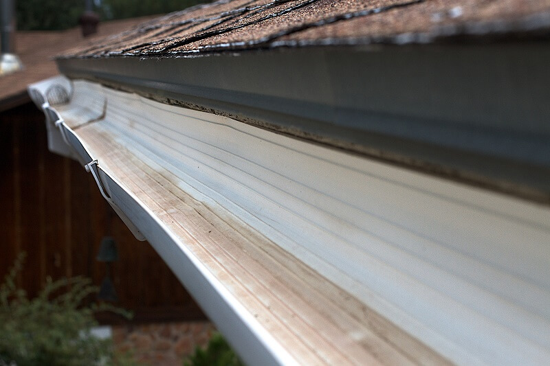 A well cleaned gutter