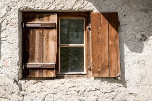 Window with one shutter closed