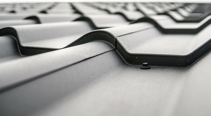 Close up roof tiles