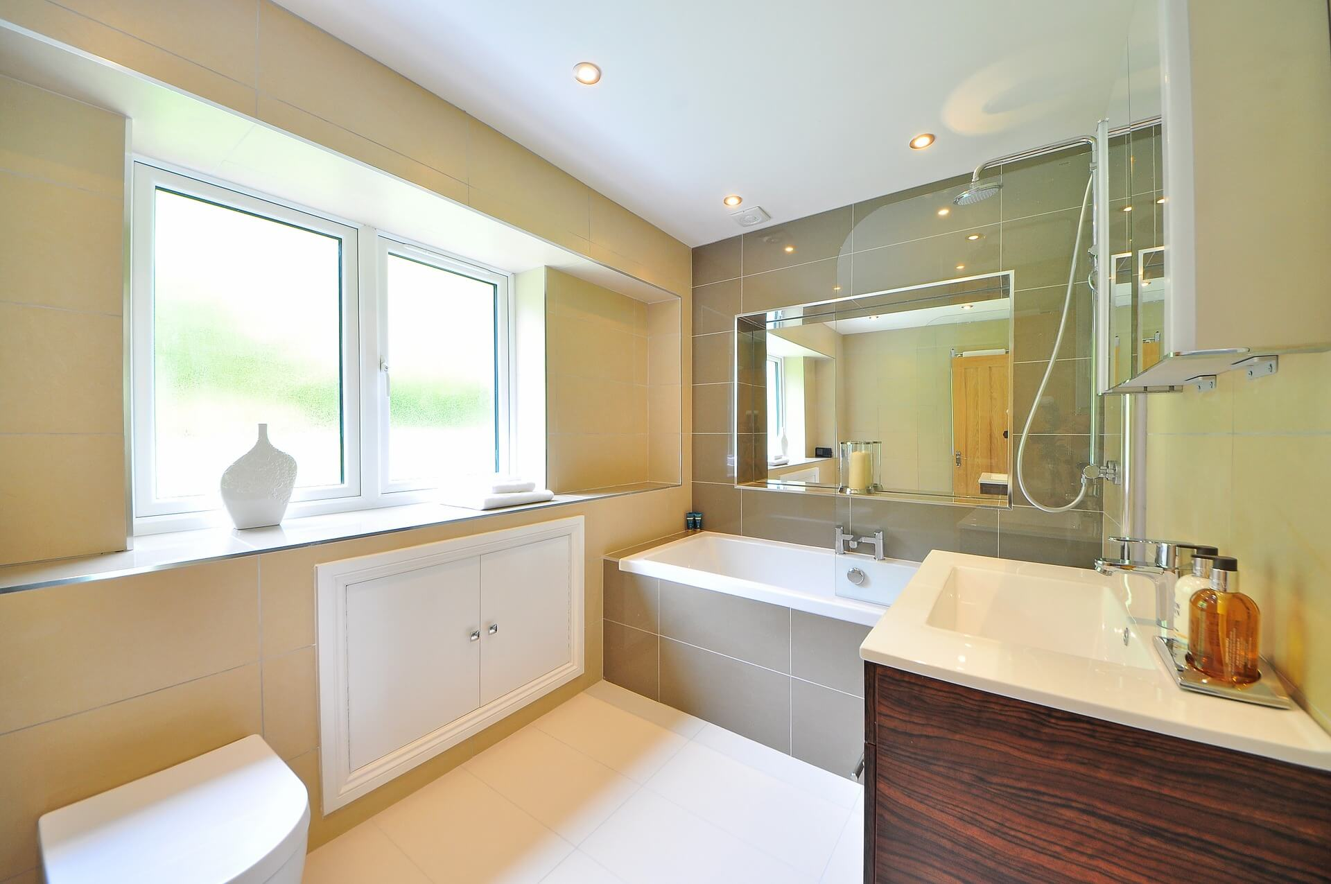 Bathroom Interior with Windows