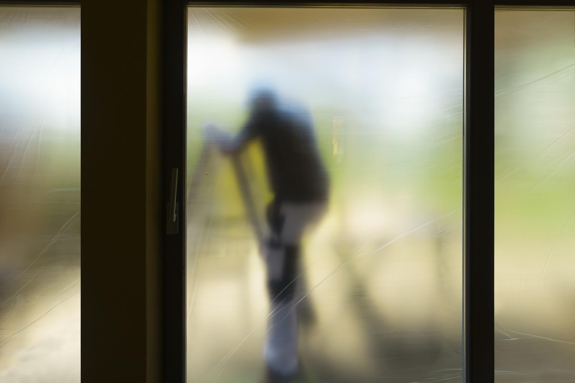 Sliding Door with Silhouette